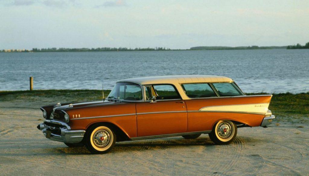 Classic Car on the Beach
